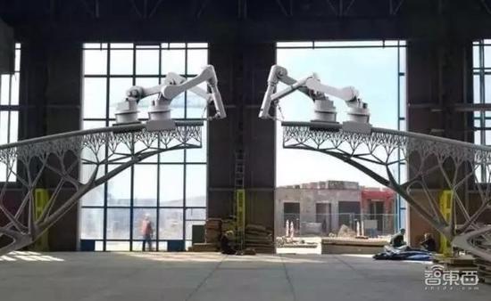▲3D打印建筑机器人