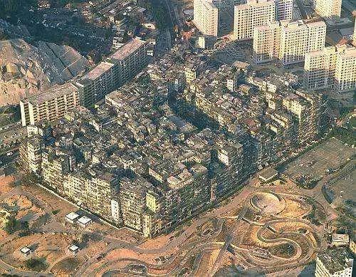 被拆毁前的九龙城寨,香港,1993年