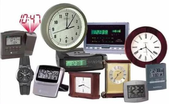各式各样的电波钟