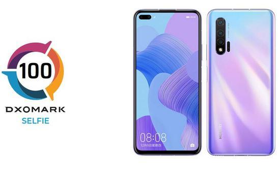 DxOMARK公布华为nova65G手机前置摄像头得分