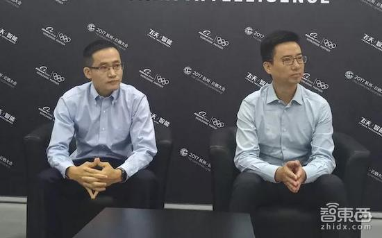 ▲左:张建锋,右:胡晓明