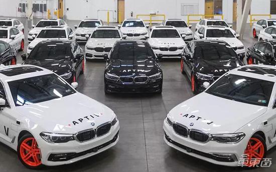 ▲安波福基于全新宝马5系打造的自动驾驶出租车队