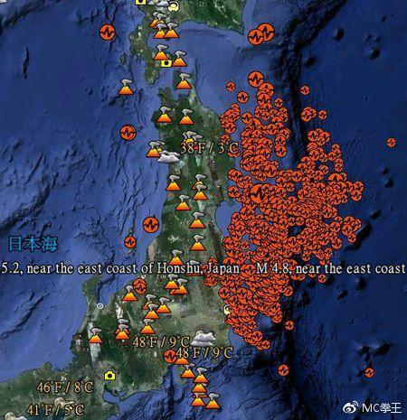 日本地震分布