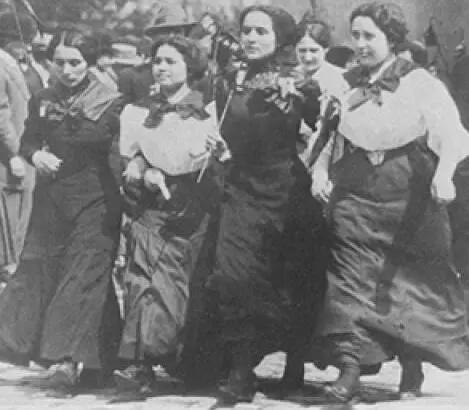 早期的美国女工示威游行