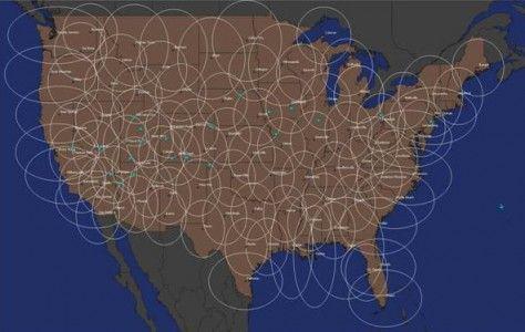 卫星模式覆盖较广(图片引自互联网)