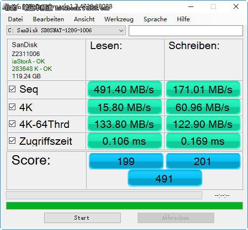 固态硬盘测试成绩