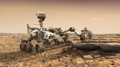 """概念图:新一代火星车将配备X射线光谱仪、探地雷达等先进仪器,并将升级一些""""好奇号""""的硬件。图片来源:NASA"""