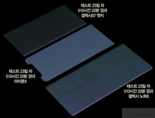 OLED烧屏大测试 iPhone X的表现居然是最好?