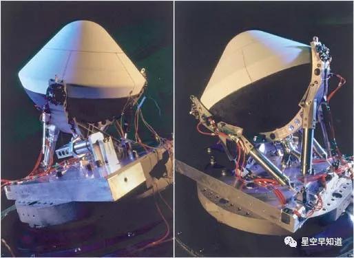 """""""火星极地着陆者""""探测器携带的两枚撞击器:阿蒙森和斯科特来源:NASA"""