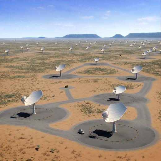 世界最庞大天文设备SKA首台天线在华诞生