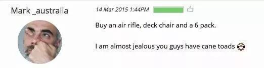 """""""买气步枪,躺椅和包,我有点嫉妒你们那有蟾蜍"""""""