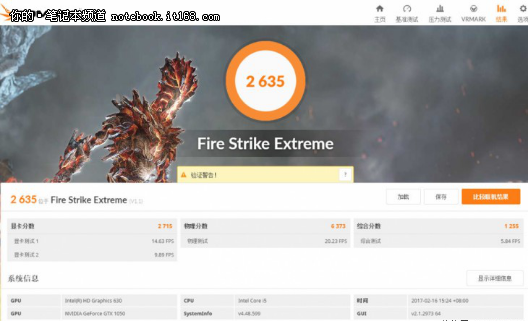Fire Strike Extreme测试成绩