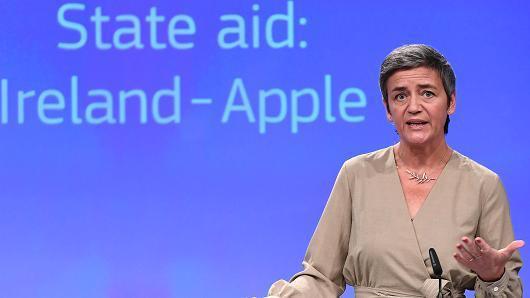 欧盟:爱尔兰必须追缴苹果1000亿税款 否则继续起诉