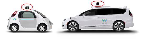 图 7 Waymo 的两代自动驾驶汽车:Firefly 和 Chrysler Pacifica