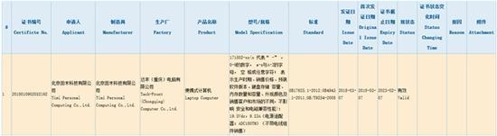 全新小米笔记本通过3C认证:配19.5V/9.23A充电器