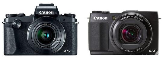 佳能G1 X Mark III(左)与佳能G1 X Mark II(右)外观对比