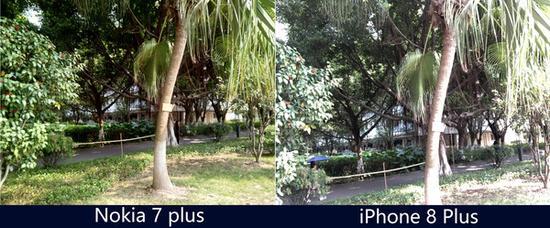 Nokia 7 Plus与iPhone 8 Plus前置样张对比