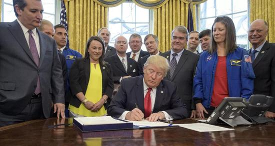 图丨特朗普政府批准重组美国国家太空委员会