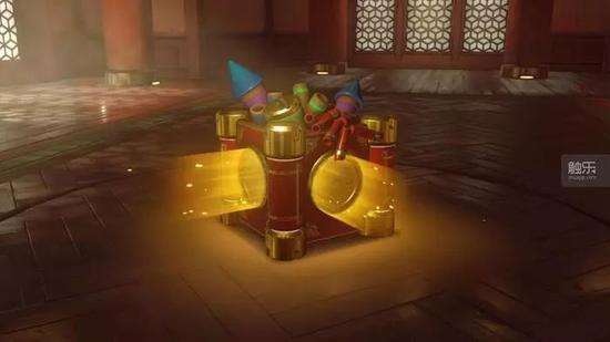 《守望先锋》的春节补给箱有着喜庆的色彩