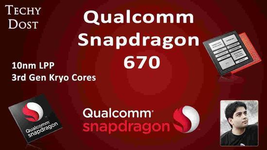 骁龙670移动平台为10nm制程,采用第3代Kryo核心(图片来自smeaker.com)