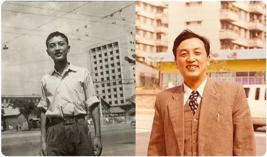 1961年高中毕业照、1984年底在深圳