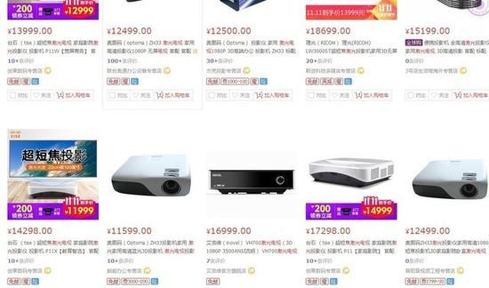不同的市场定位导致了激光电视价格相差过大