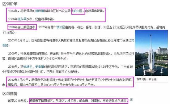 综上我们可以看出,湘潭县在清朝到1949年之间属于长沙府,后来经过多次切割。