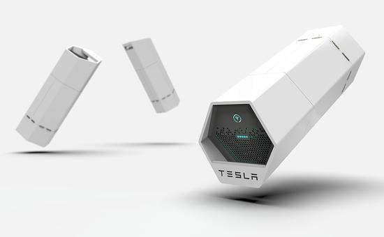 特斯拉超级概念充电宝来了 只怕妹子们拿不动