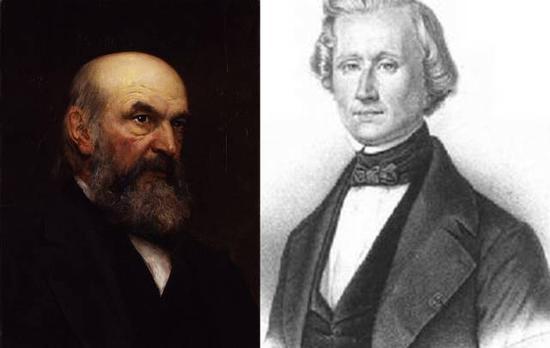 英国天文学家约翰·柯西·亚当斯(左)和法国天文学家乌尔班·勒维耶(右)(图片来源于网络)