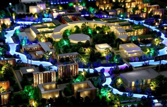 西湖大学校园规划沙盘模型
