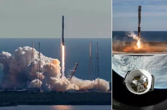 12月15日,Space-X二手火箭 二手飞船组合顺利升空(图片来源:Space-X)