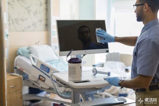 物理防病毒 HP医用电脑可以承受杀菌清洗