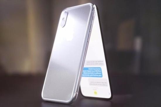 背部基本与iPhone X没有任何区别,竖排双摄+苹果LOGO。