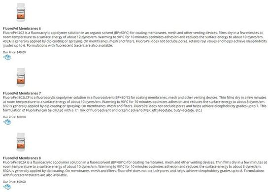 Cytonix网站疏油涂抹产品介绍(图片引自Cytonix)