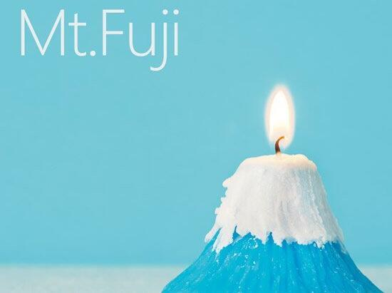 点燃后散发樱花香味的富士山蜡烛 谁不想要?