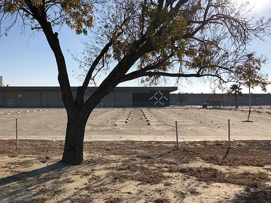 12月初,法拉第未来位于美国加州汉福德的工厂。 本文图片除说明外均为澎湃新闻记者 杨鑫倢 摄