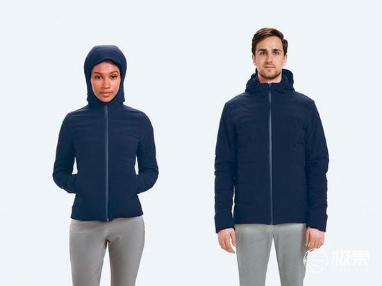 美国推出自动加热夹克 自带机器学习能力