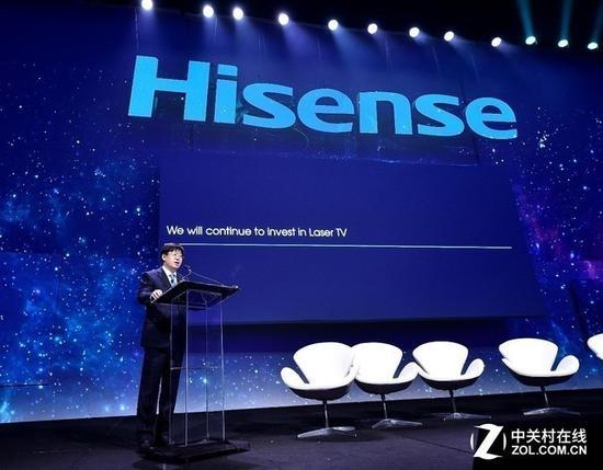 海信连续几年于CES展会力推激光电视