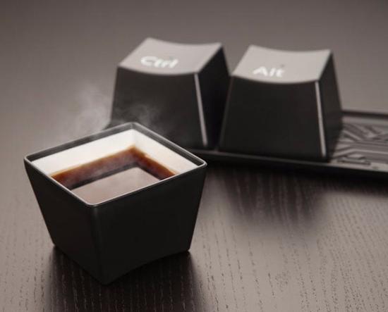 超大号的键盘——杯子。