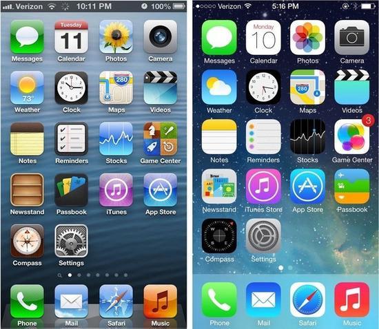 iOS6VSiOS7