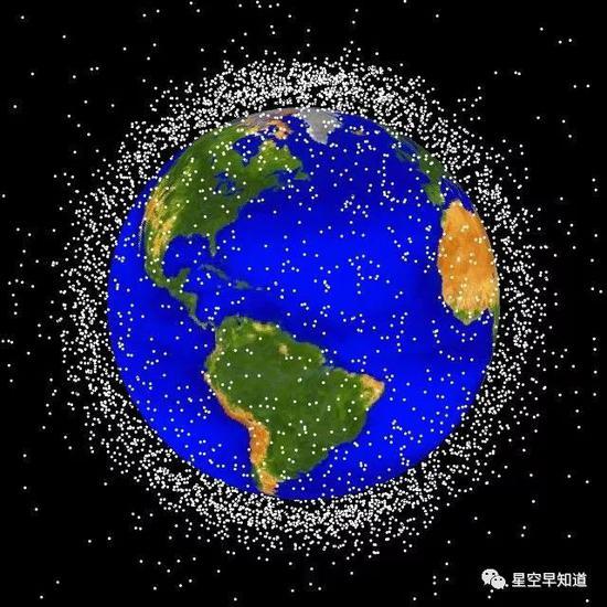 太空中有记录的太空垃圾数量超过50万个来源:wiki