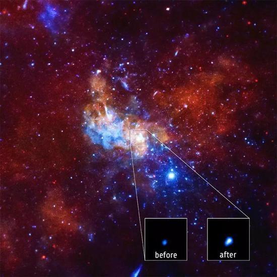 我们能看见黑洞向宇宙喷射物质流