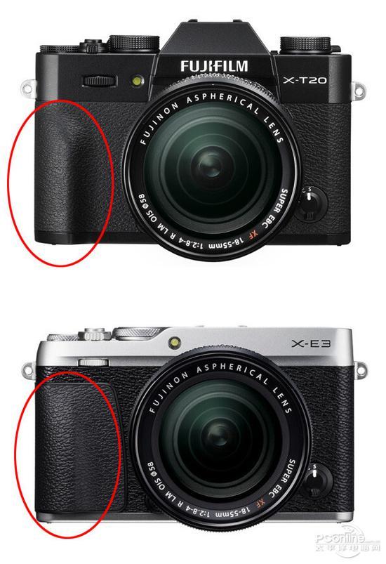 上:X-T20 下:X-E3