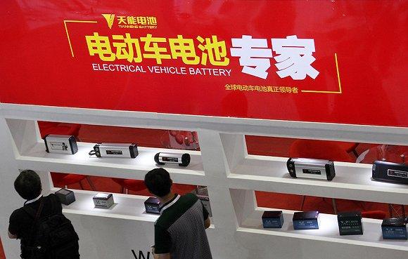 天能电池 图片来源:视觉中国