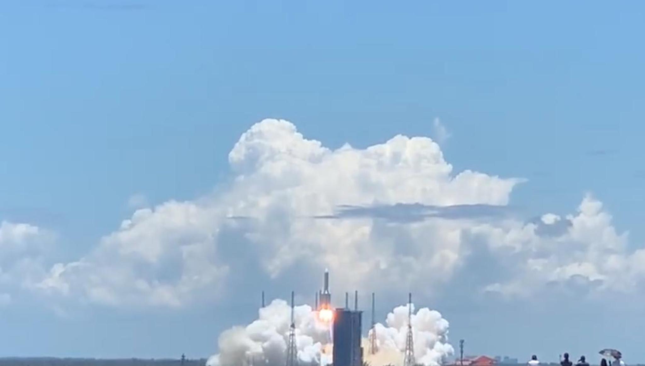 天问一号火星探测器发射