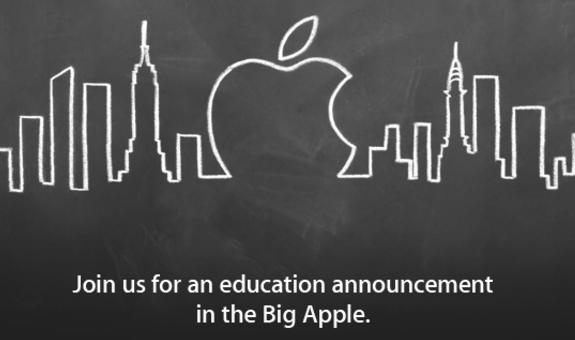 2012年苹果在纽约开发布会的邀请函