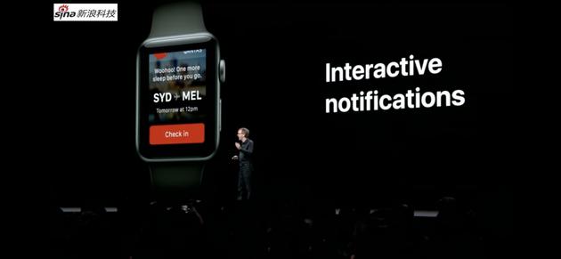 手表上弹出个通知之后,能做的操作也更多了