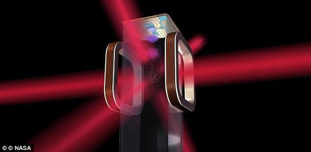 """这个盒子装有激光器、真空室、舱室和一把电磁""""刀"""",可以抵消气体粒子的能量,使原子冷冻到接近绝对零度的温度。"""