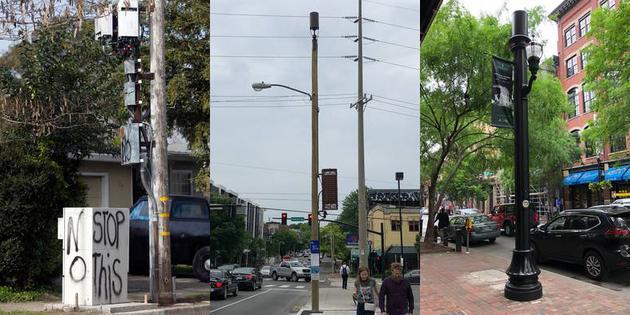 美國不同城市的5G基站