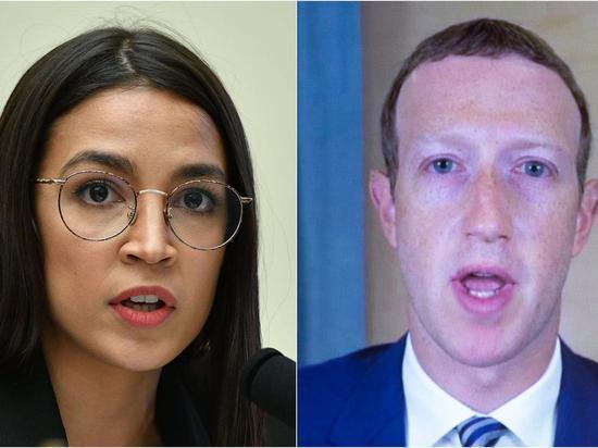 美女议员AOC指控扎克伯格和Facebook对国会事件负有部分责任